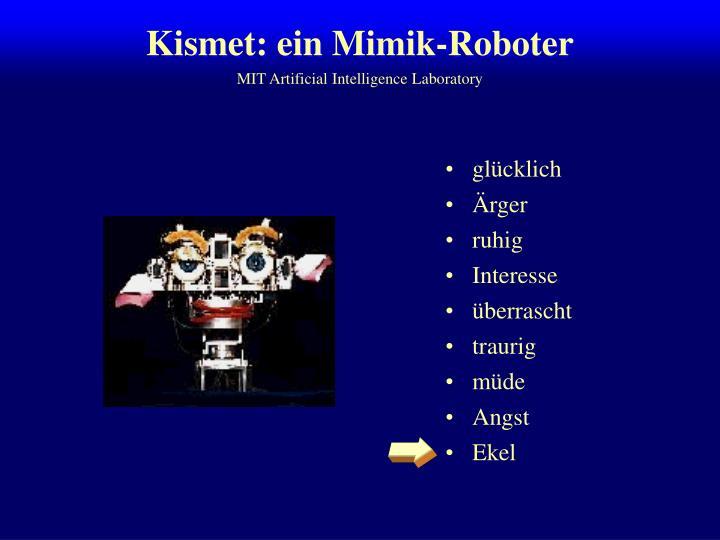 Kismet: ein Mimik-Roboter