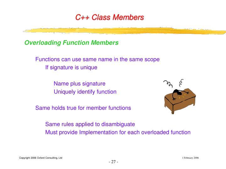 C++ Class Members