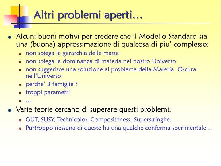 Altri problemi aperti…