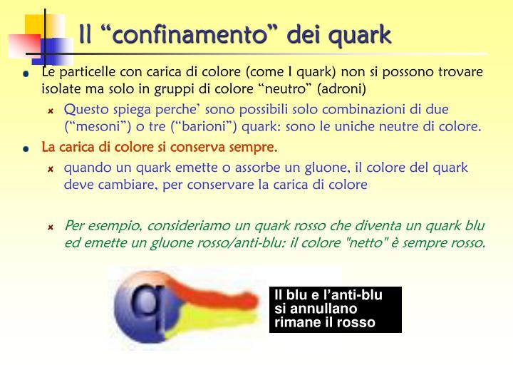 """Il """"confinamento"""" dei quark"""