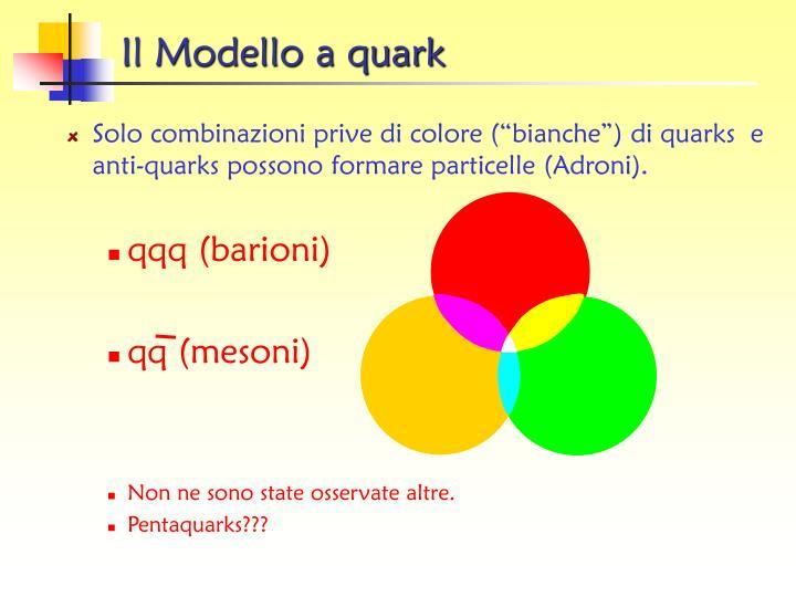 Il Modello a quark