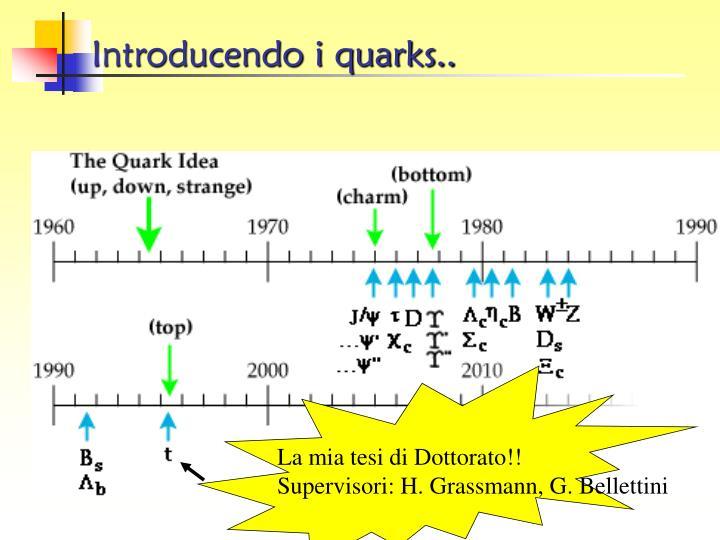 Introducendo i quarks..