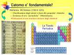 l atomo e fondamentale