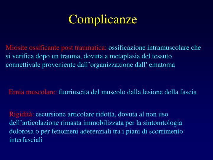 Miosite ossificante post traumatica: