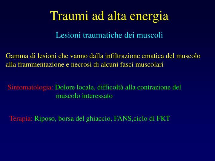 Lesioni traumatiche dei muscoli