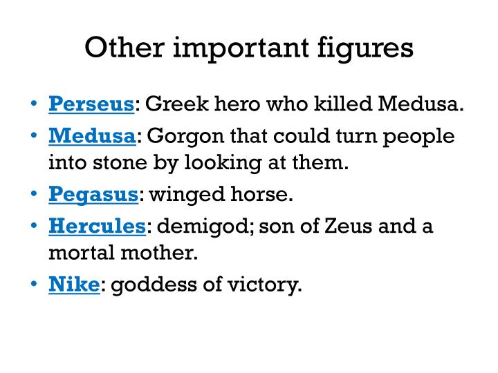 Other important figures