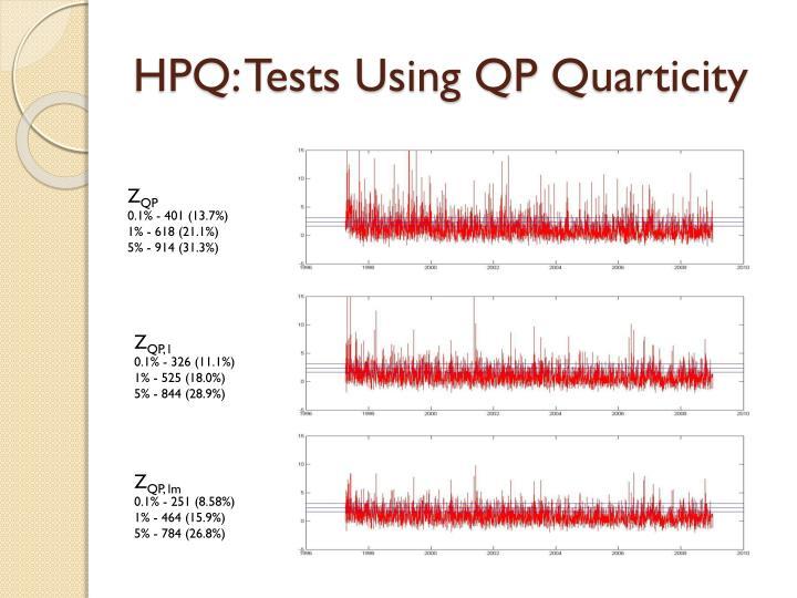 HPQ: Tests Using QP