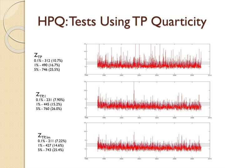 HPQ: Tests Using TP