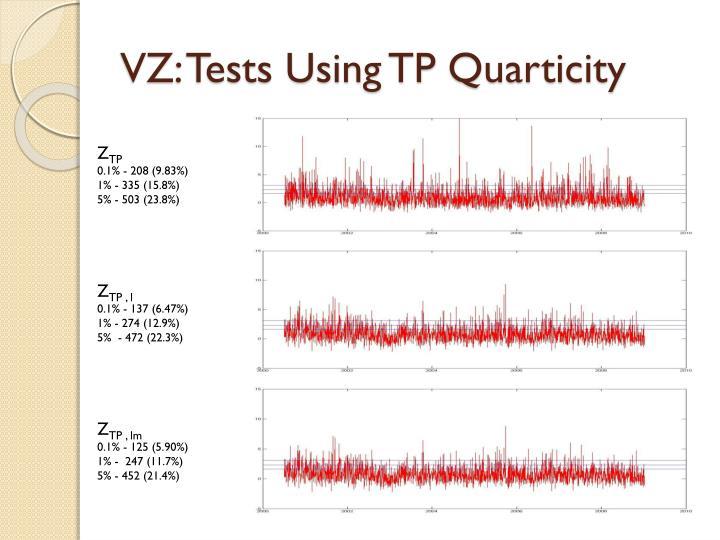 VZ: Tests Using TP