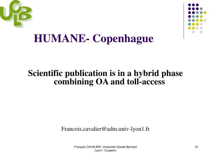 HUMANE- Copenhague