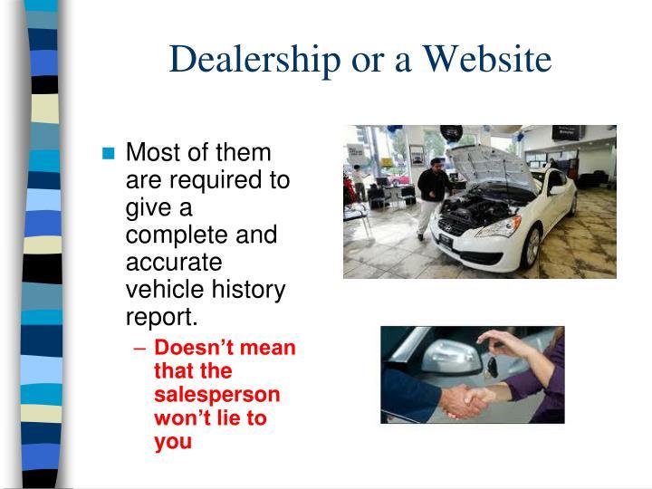 Dealership or a Website