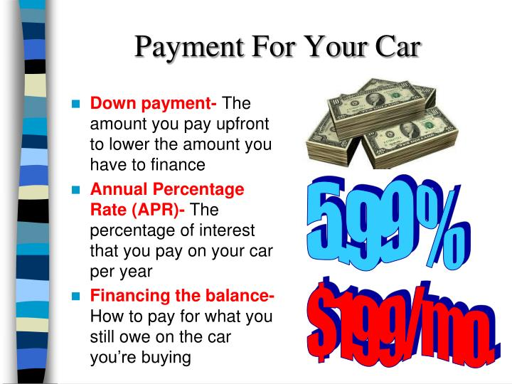 Payment For Your Car