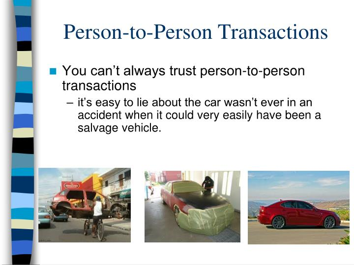 Person-to-Person Transactions