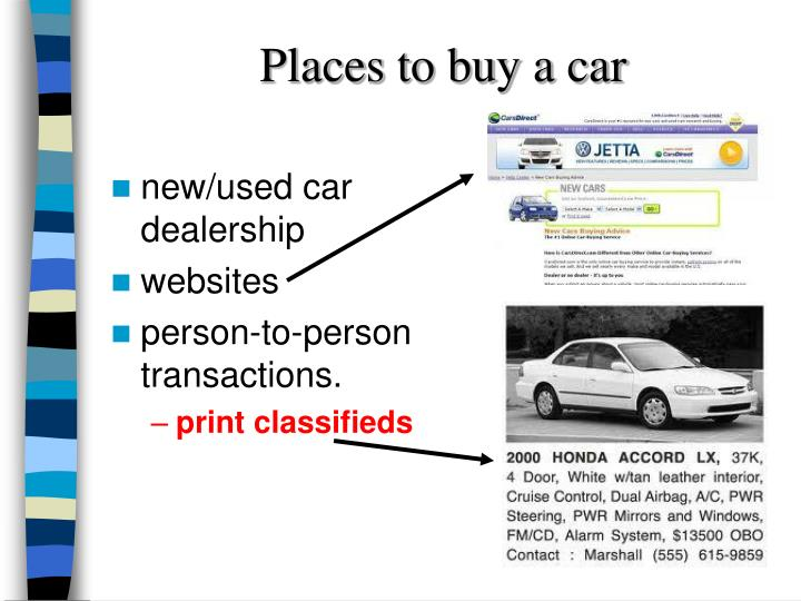 Places to buy a car