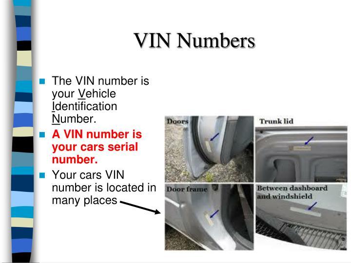 VIN Numbers
