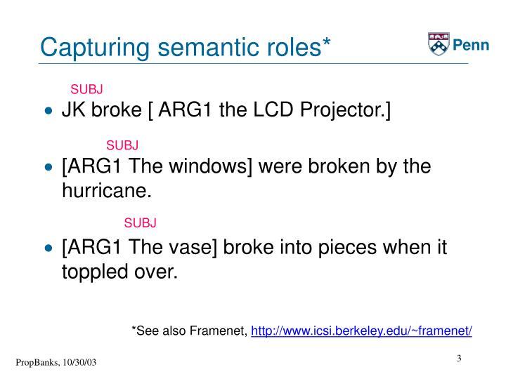 Capturing semantic roles*
