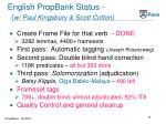 english propbank status w paul kingsbury scott cotton