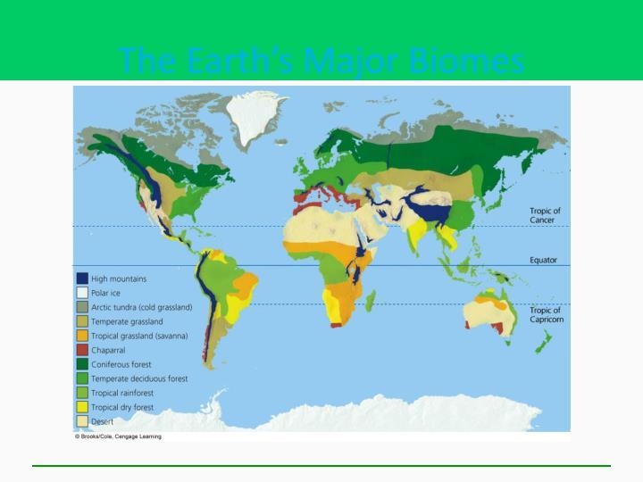 The Earth's Major Biomes