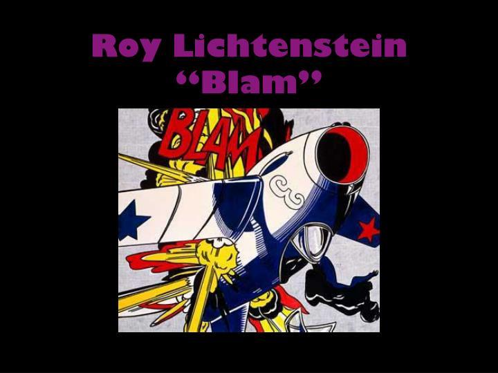"""Roy Lichtenstein """"Blam"""""""