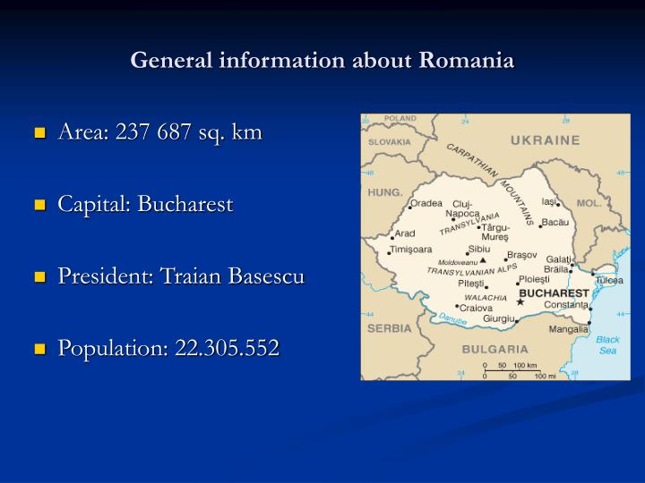 General information about romania