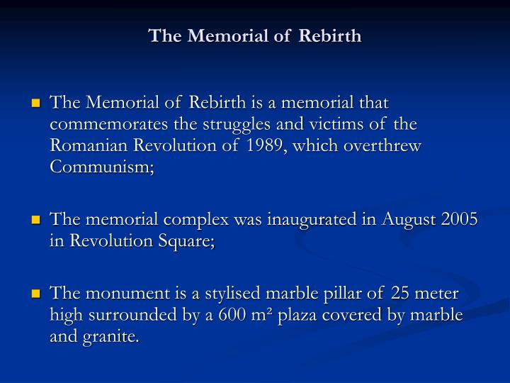 The Memorial of Rebirth