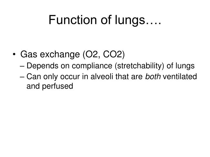 Function of lungs….