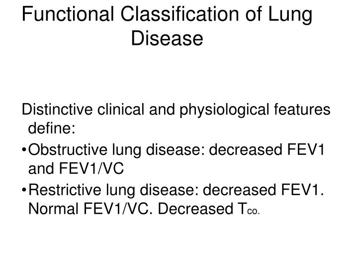 Functional Classification of Lung Disease