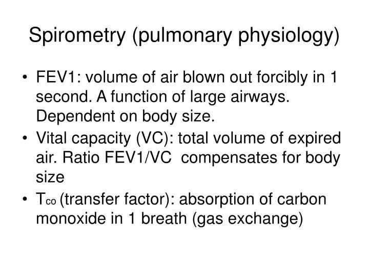 Spirometry (pulmonary physiology)