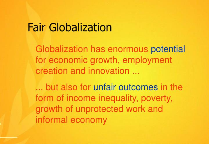 Fair Globalization