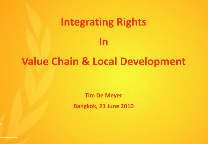 Integrating Rights