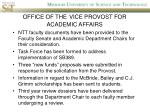 office of the vice provost for academic affairs1