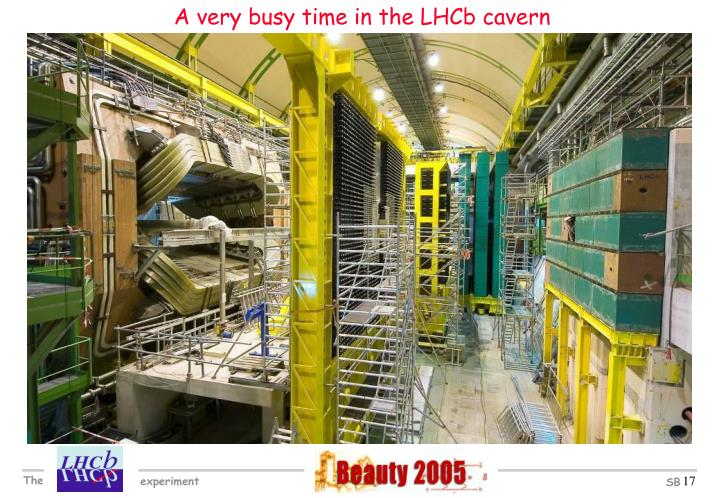 A very busy time in the LHCb cavern