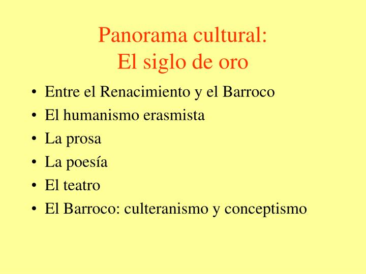 Panorama cultural: