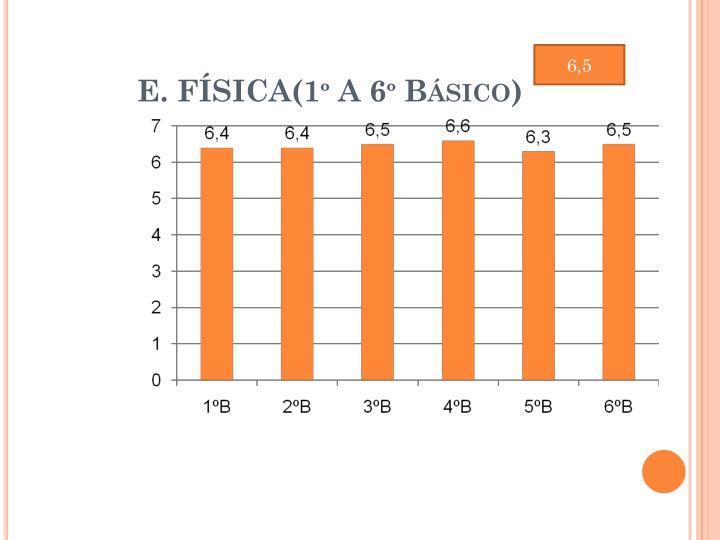 E. FÍSICA(1º A 6º Básico)