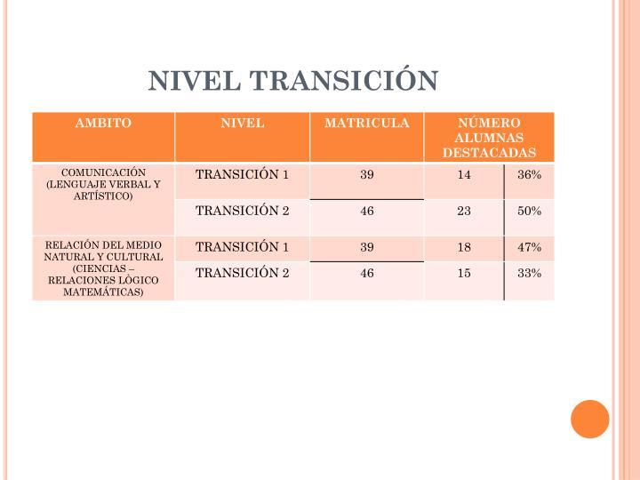 NIVEL TRANSICIÓN