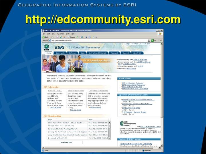 http://edcommunity.esri.com