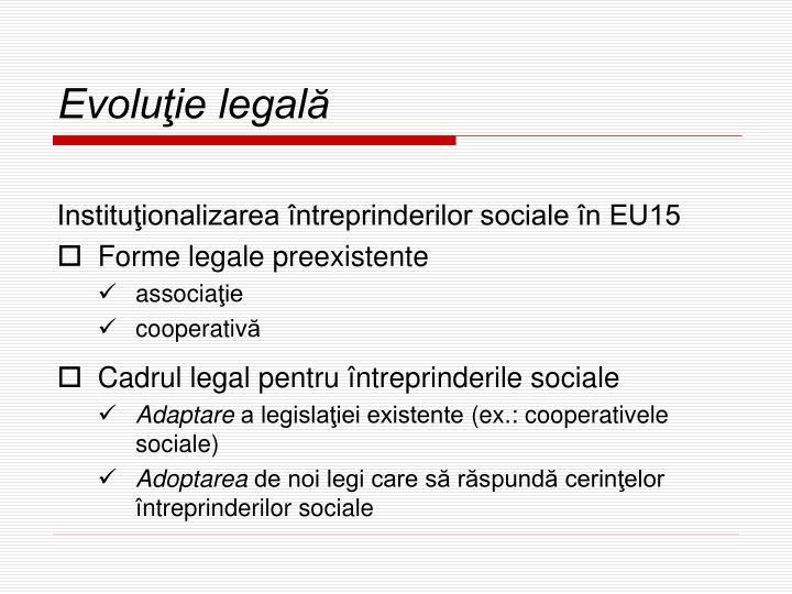 Evoluţie legală
