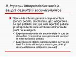ii impactul ntreprinderilor sociale asupra dezvolt rii socio economice