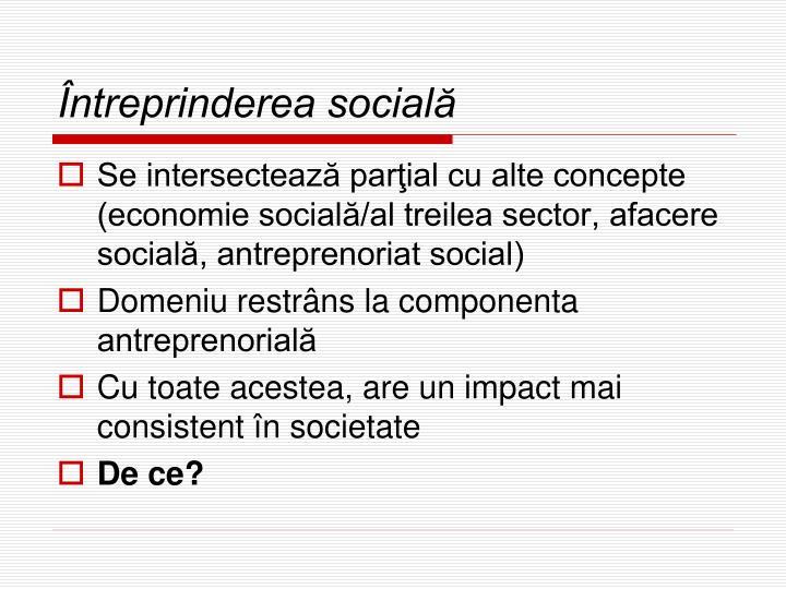 Întreprinderea socială