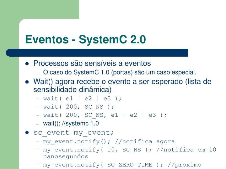 Eventos - SystemC 2.0