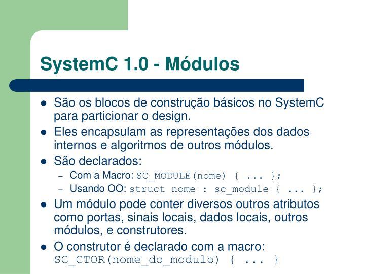 SystemC 1.0 - Módulos
