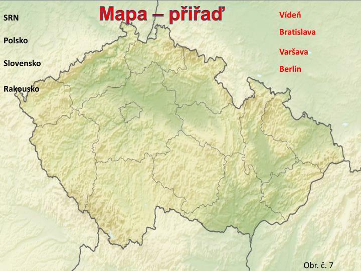 Mapa – přiřaď
