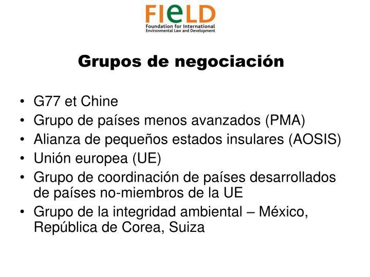 Grupos de negociación