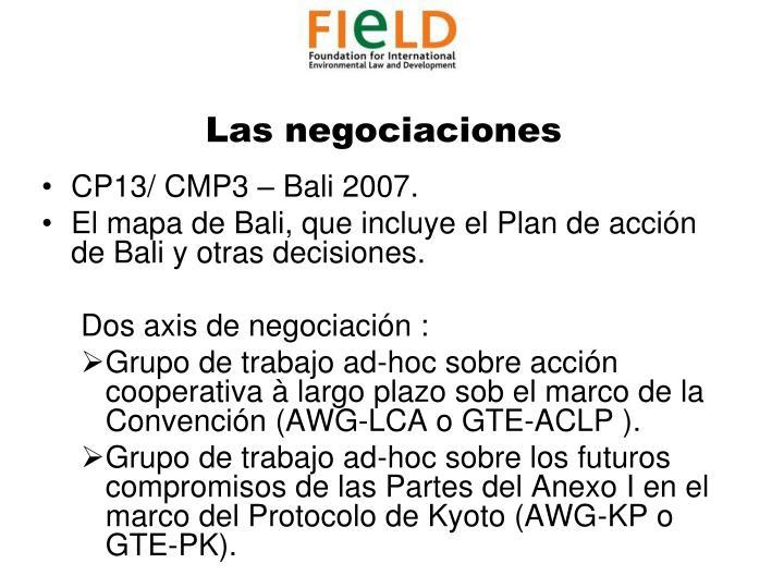 Las negociaciones