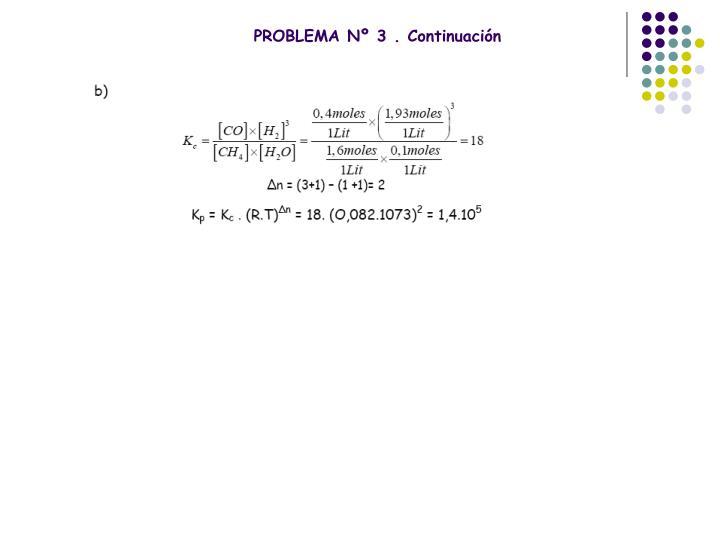 PROBLEMA Nº 3 . Continuación