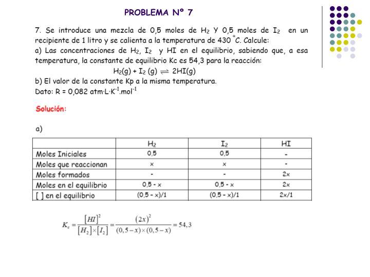 PROBLEMA Nº 7