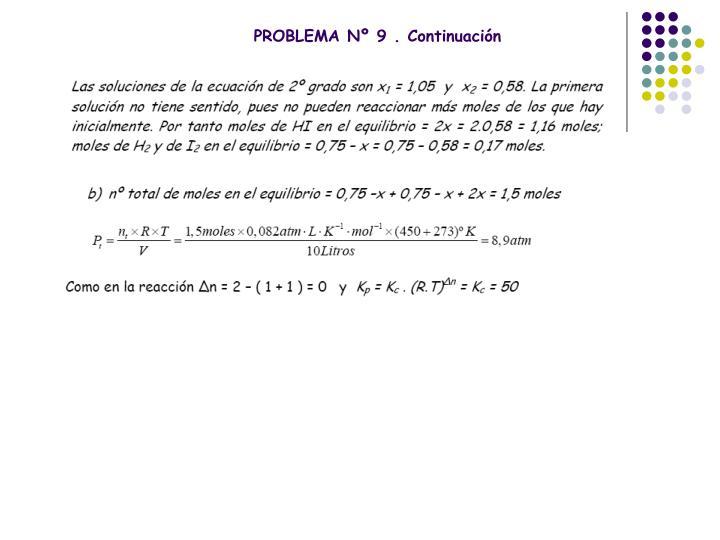 PROBLEMA Nº 9 . Continuación
