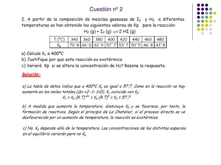 Cuestión nº 2