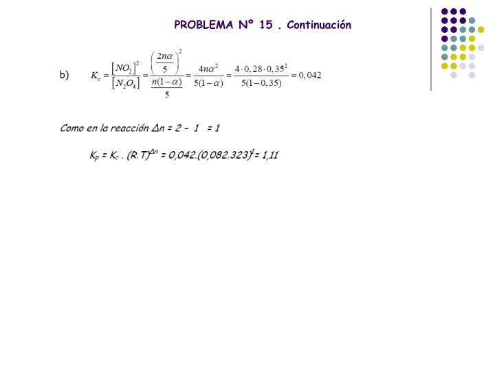 PROBLEMA Nº 15 . Continuación