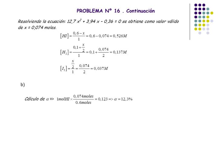 PROBLEMA Nº 16 . Continuación